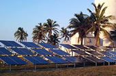Solar - Photovoltaic Installation. Large commercial solar array.